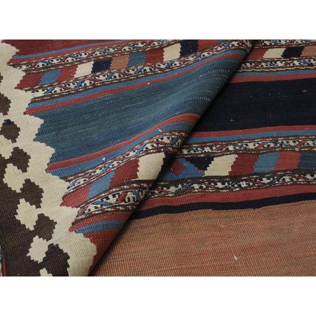 Textile Antique Shahsavan Kilim For Sale - Image 7 of 9