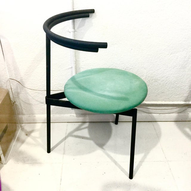 This stunning chair, a rare design by Cidue, an Italian designer, was done for the Casa Comunita line in the 80s....