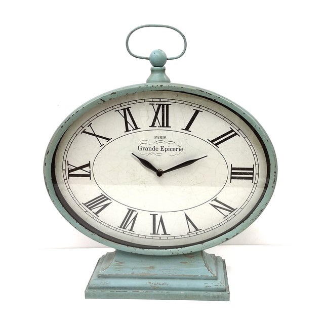 New Large Vintage-Style Mantel Clock For Sale In Boston - Image 6 of 9