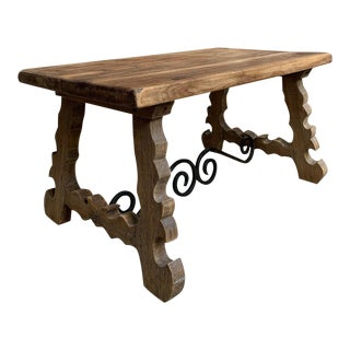 Antique French Country Oak Coffee Table For Sale