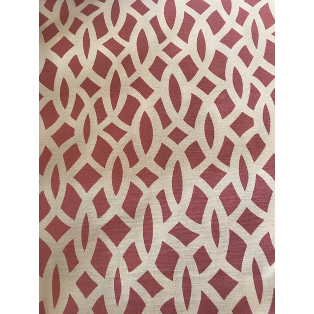 2010s Schumacher Chain Link Cerise Fabric - 3.5 Yards For Sale - Image 5 of 5