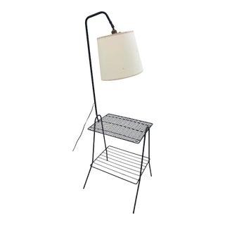 Vintage Mid Century Modern Side Table & Floor Lamp For Sale