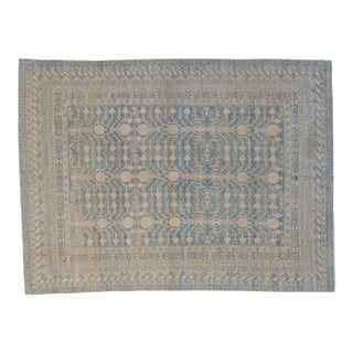 "Handmade Wool Khotan Rug - 7' x 9'3"" For Sale"