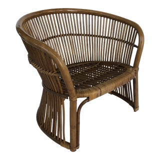 Boho Chic Sculptural Franco Albini Lounge Chair For Sale