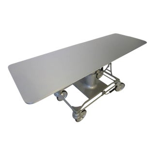 Industrial Machine Age Rolling Bar or Serving Table