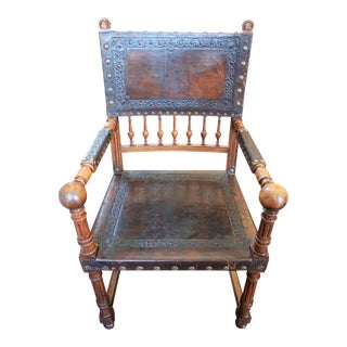 Pair of Jacobean Style Fauteuils