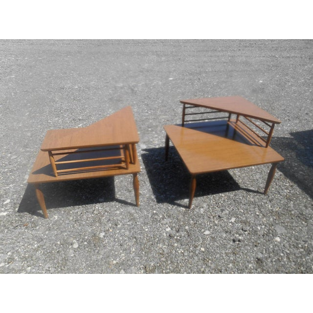 Danish Modern 1960's Danish Modern Baumritter Corner End Side Tables- a Pair For Sale - Image 3 of 11