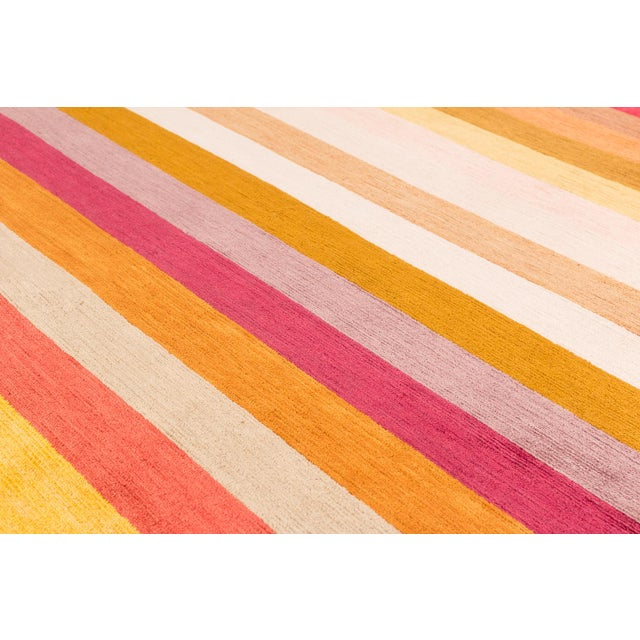 Contemporary Silk Multi Colored Area Rug, 9'x12' For Sale In New York - Image 6 of 10