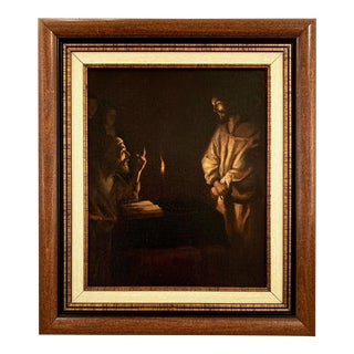 """19th Century """"Christ Before the High Priest"""" By Priscilla Sibley After Gerard Van Honthorst For Sale"""