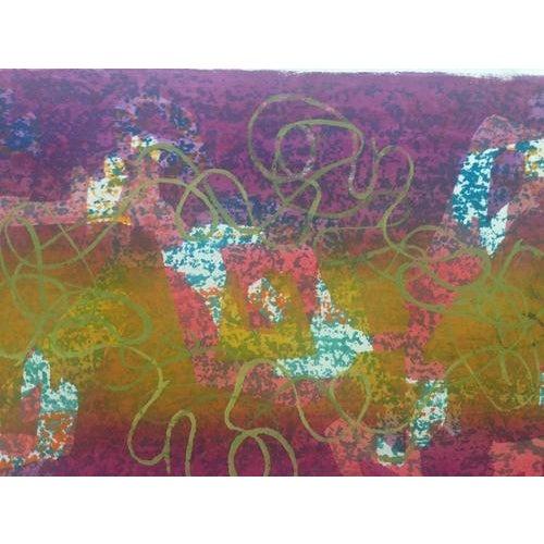 Mid-Century Abstract Silkscreen Estelle Siegelaub For Sale - Image 5 of 7