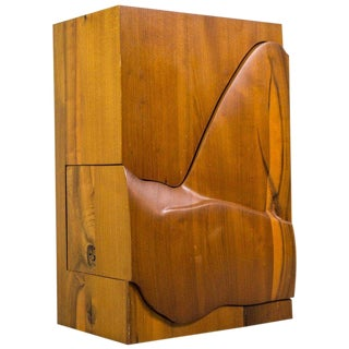 Studio Furniture Wall Cabinet in Solid Walnut, 1970s, Us For Sale