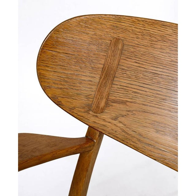 Hans Wegner CH-22 Lounge Chair For Sale - Image 9 of 10