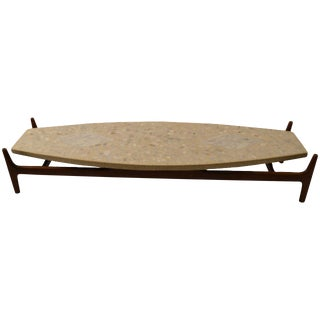 Probber Surfboard, Terrazzo-Top Coffee or Cocktail Table For Sale