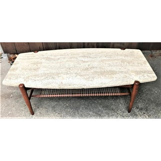 20th Century Danish Modern Dux Travertine Coffee Table Preview