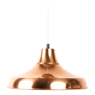 1970s Danish Brass Mid-Century Pendant Lamp For Sale