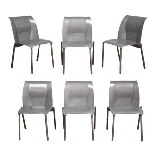 "Knoll Studio ""Fog"" Chairs - Set of 6 Mid Century Modern For Sale"