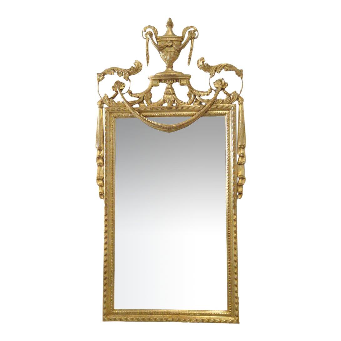 Distinguished Hollywood Regency Gold Leaf Italian La Barge Mirror Decaso