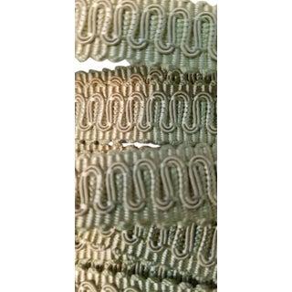 Vintage French Silk Celadon Gimp Fabric Trim Border For Sale