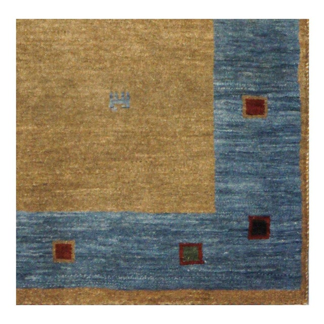 Islamic Persian Gabbeh Rug - 4 x 5.10 For Sale - Image 3 of 4