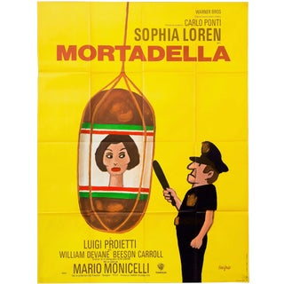 "Vintage Large 1972 French Sophia Loren ""Mortadella"" Film Poster For Sale"