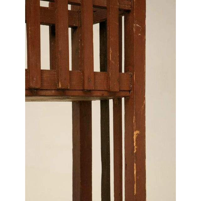 Wood c.1940 English Painted Wood Plant Stand For Sale - Image 7 of 10