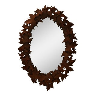 Maple Leaf Oval Mirror