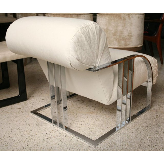 Pair of Chrome Armchairs by Milo Baughman for Thayer Coggin For Sale In Miami - Image 6 of 9