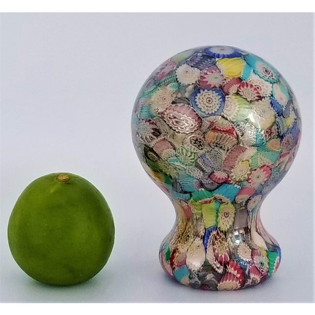 Murano Glass Millefiori Paperweight by Gambaro & Poggi - Vintage Venetian Italian Italy Mid Century Modern MCM Palm Beach Boho Chic Vase Bowl For Sale - Image 11 of 13