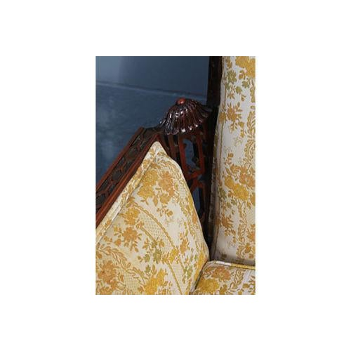 Traditional Carved Asian Chinoiserie Sofa - Image 6 of 11