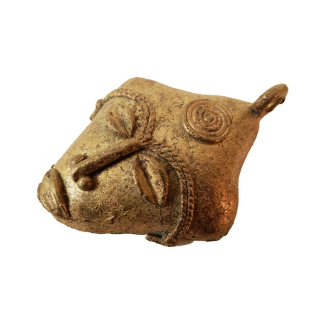 African Baule Gold Weight Passport Mask - Image 2 of 5