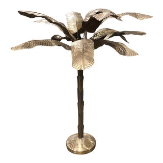 Mid-Century Modern French Brass Palm Tree