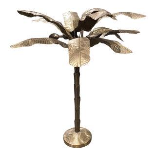 Mid-Century Modern French Brass Palm Tree