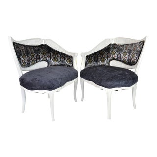 Asymmetrical Hollywood Regency Cocktail Chairs - a Pair For Sale