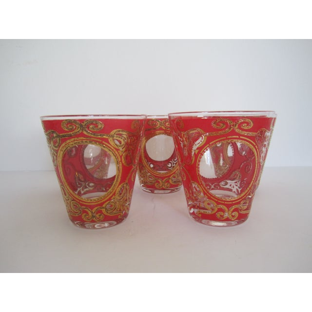 Culver 1970s Red & Gold Rocks Glasses - Set of 10 - Image 8 of 11