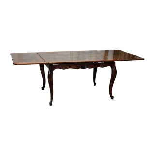 Queen Anne Dining Table With End Extensions For Sale