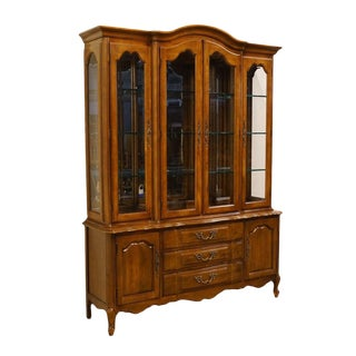 "Thomasville Furniture Tableau French Provincial 62"" Breakfront China Cabinet For Sale"