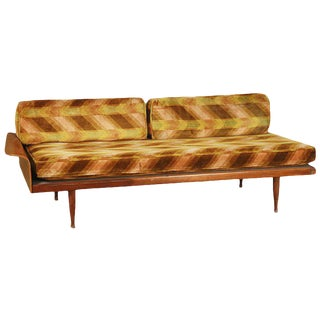 Walnut Daybed with Fan Arm by Frank & Son For Sale