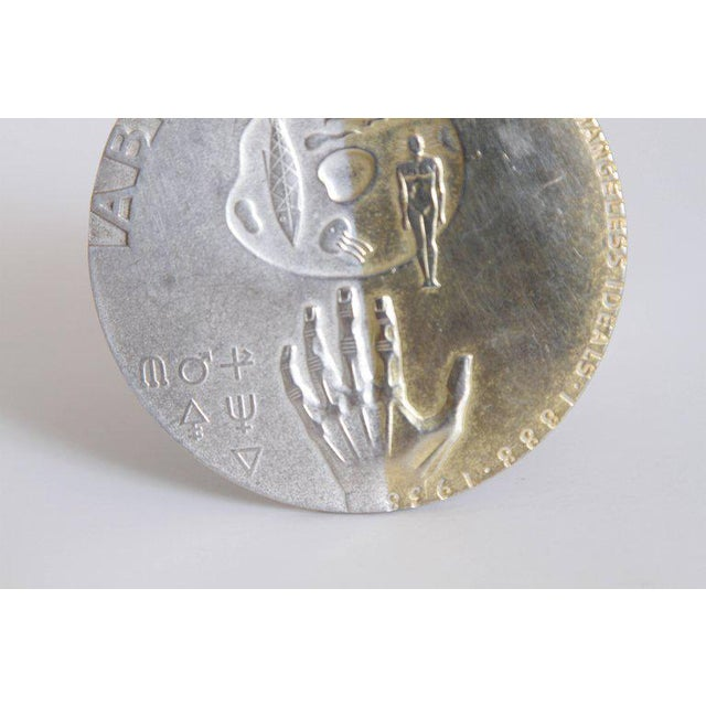 Machine Age Art Deco Raymond Loewy Medallion, Abbott Labs 50th Anniversary For Sale In Dallas - Image 6 of 11