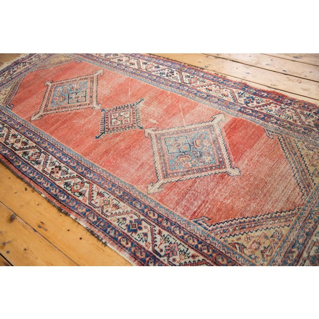 """White Antique Malayer Rug Runner - 3'8"""" x 7'6"""" For Sale - Image 8 of 13"""