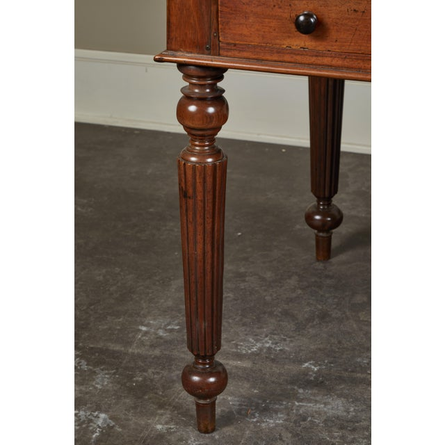 French Colonial Single-Piece Rosewood Top Desk For Sale - Image 9 of 13