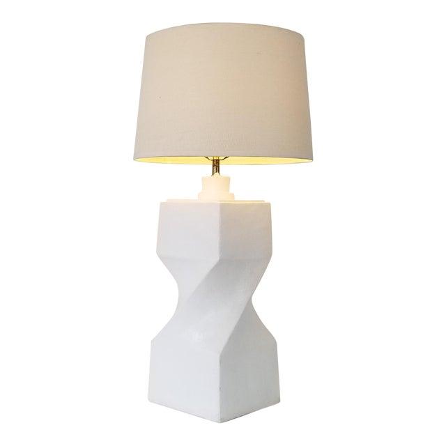 Postmodern Geometric Plaster Decorative Table Lamp For Sale