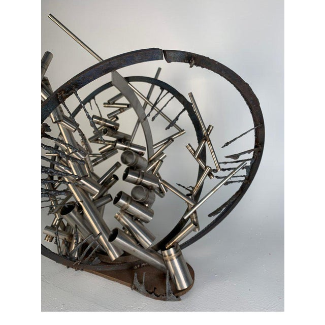 """Abstract Late 20th Century D. Phillips """"Gates"""" Welded Steel Sculpture For Sale - Image 3 of 11"""