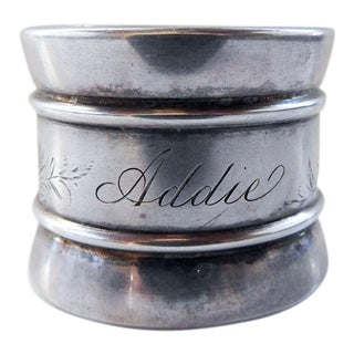 Sterling Silver Antique Aesthetic Movement Napkin Ring For Sale