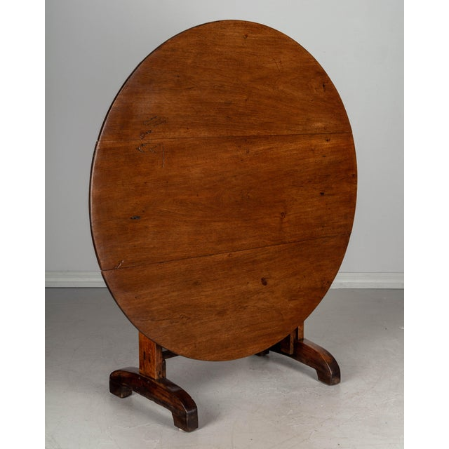 19th C. French Wine Tasting Table or Tilt-Top Table For Sale - Image 12 of 12