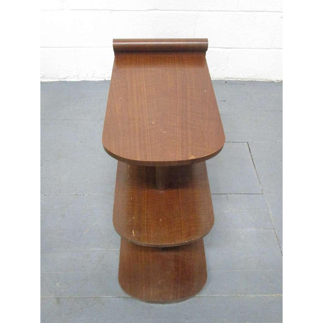 Pair of Art Deco Streamline Three Tier End Tables For Sale In New York - Image 6 of 9