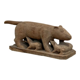 Carved Wood Animal, Indonesia Circa 1900 For Sale