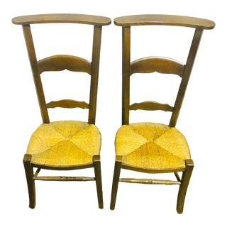 Vintage Mid Century Shaker Shawl Chairs- a Pair For Sale
