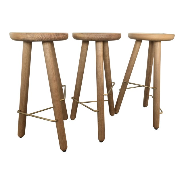 Another Country Oak Counter Stools - Set of 3 - Image 1 of 4