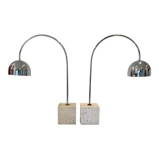 1960s Guzzini Italian Arc Table Lamps by Harvey - a Pair For Sale