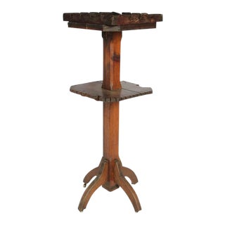 Antique Dry Goods Store Display Wood Stand For Sale